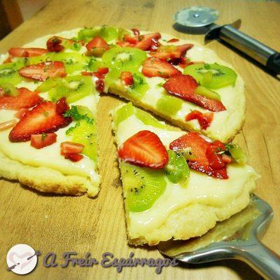 Tarta-pizza de fruta