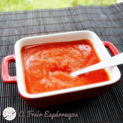 Salsa de tomate exprés