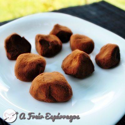 Trufas de chocolate (tiernas)