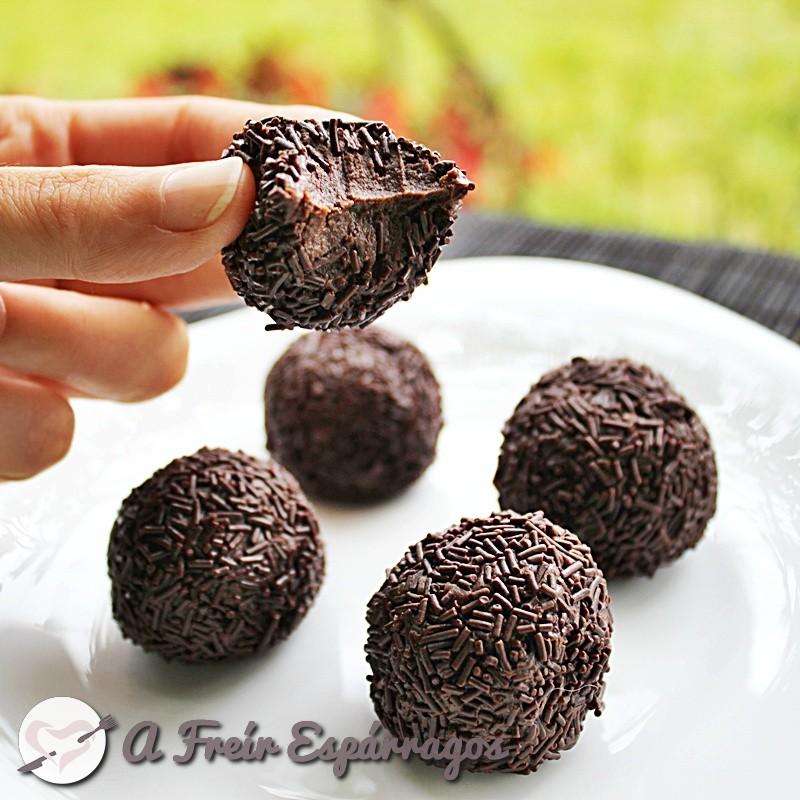 Trufas de chocolate (consistentes)
