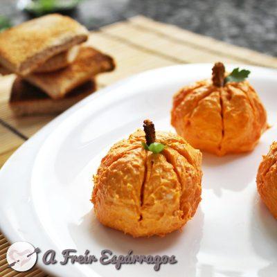 Calabacitas de queso y sobrasada para halloween