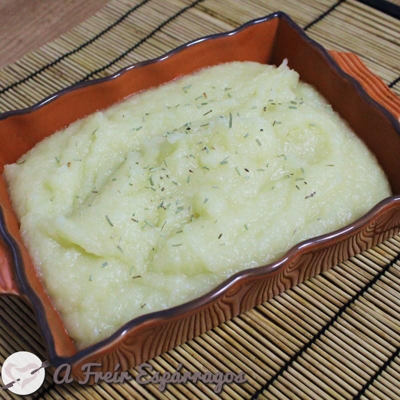 Puré de patata y manzana