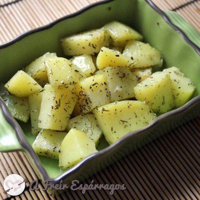 Cómo confitar patatas