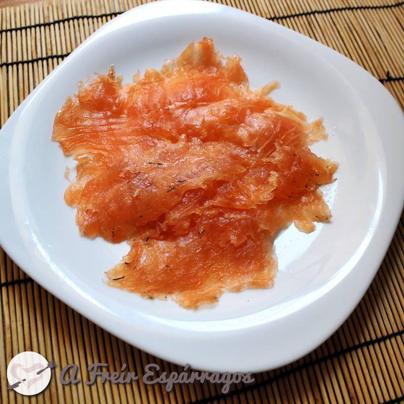 Salmón marinado   A Freír Espárragos