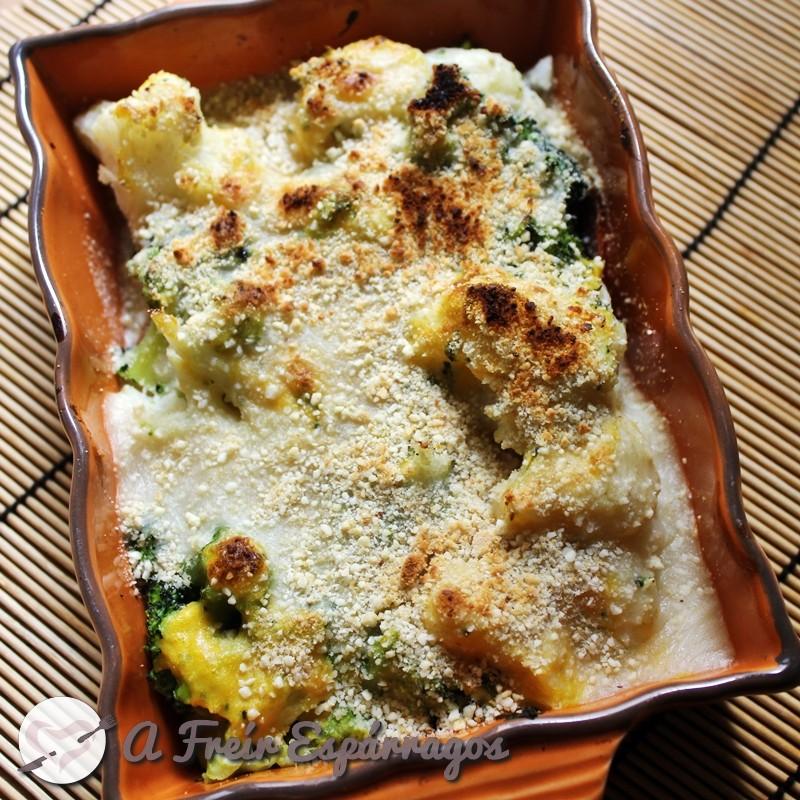 Gratín de coliflor y brócoli