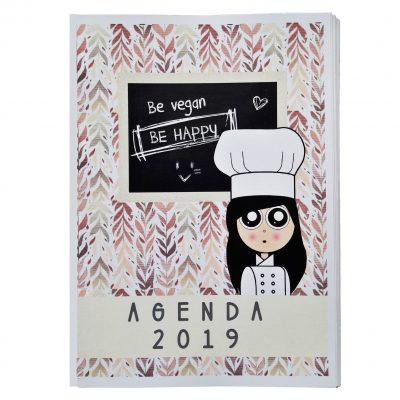 Agenda 2019 en papel. Dos versiones. Vegana y omnívora.