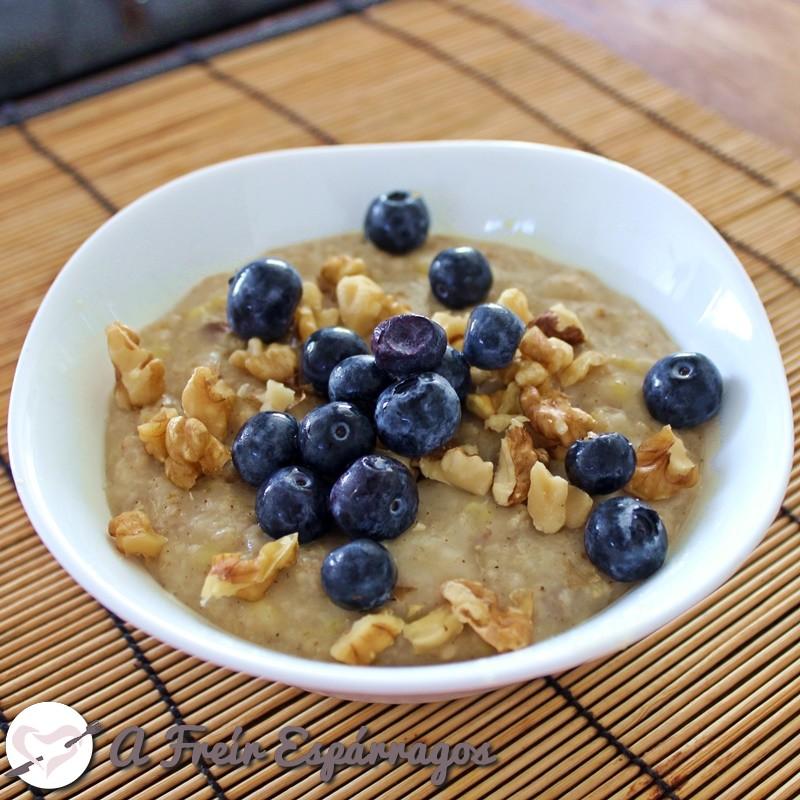 Porridge o gachas de avena sin azúcar