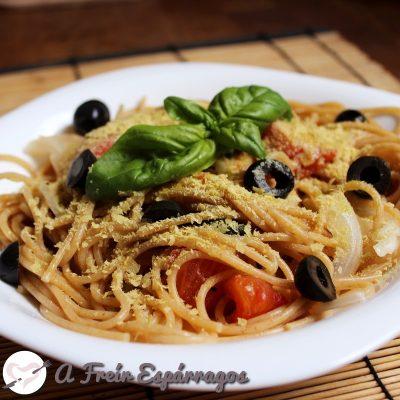 Espaguetis exprés (en una sola olla)