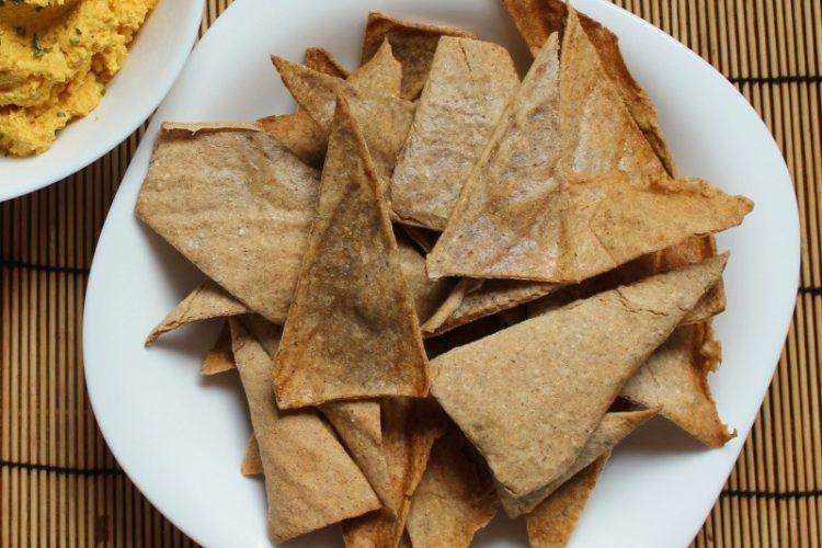 Nachos caseros de trigo sarraceno